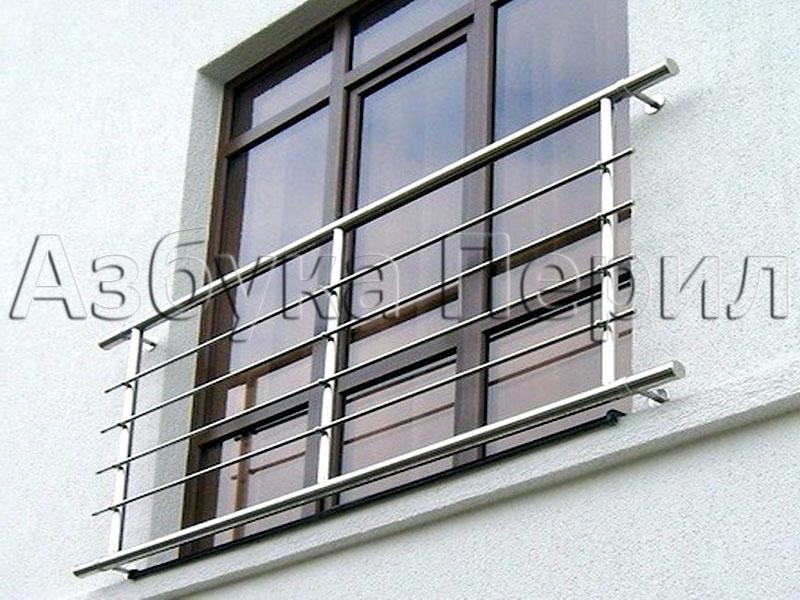 Французский балкон из нержавеющей стали